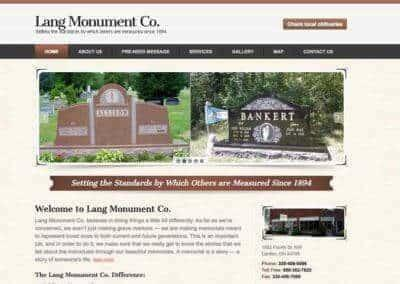 Lang Monument Co.